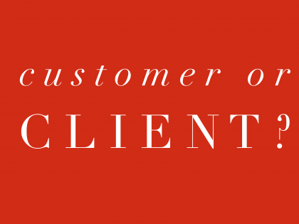 Customer or Client?