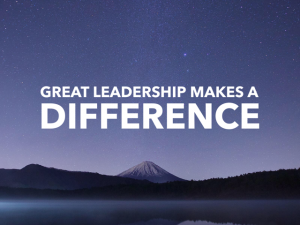 Great Leaders Make a Difference